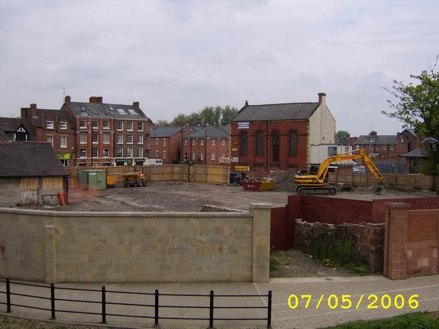 Site Of Shrewsbury's new entertainment venue