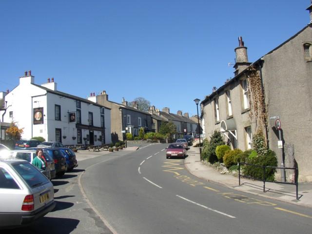 Main street, Warton, looking north