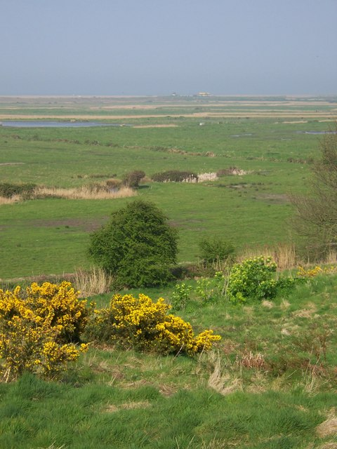 Looking northeast from the Friary Hills towards Blakeney Eye