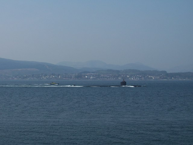 Submarine and escort