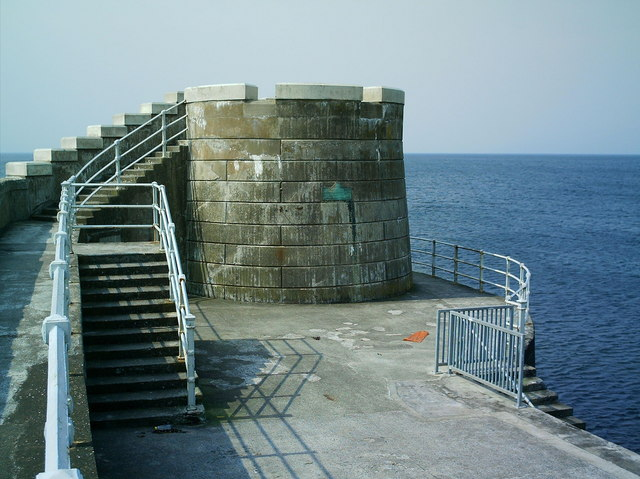 Saltcoats Outer Harbour Wall