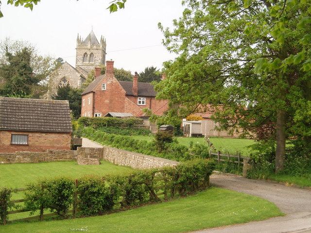 Laxton village looking west