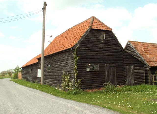 Boarded Barns near Tinker's Green, Essex