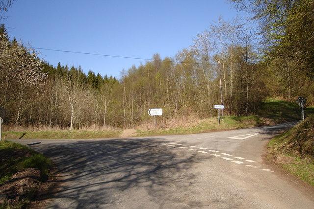 Road junction for Glen Isla or Glenshee