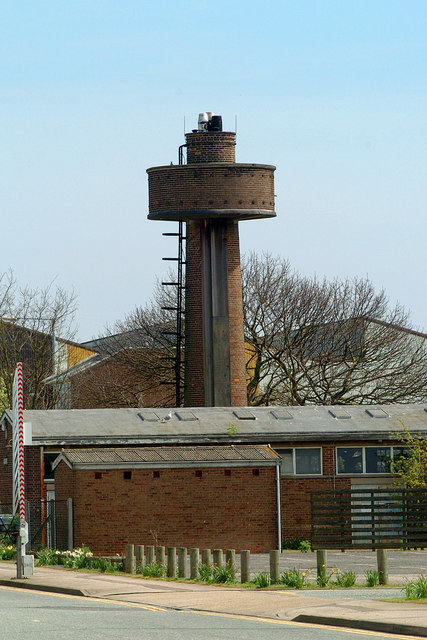 Water tower combined with factory chimney