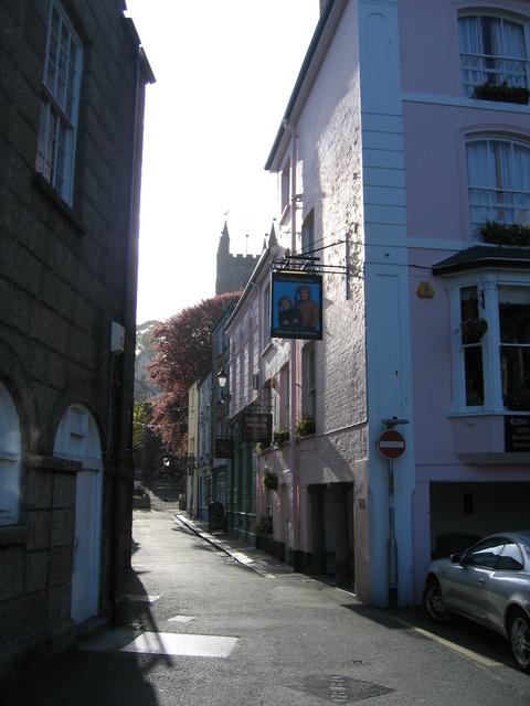 Fowey street scene