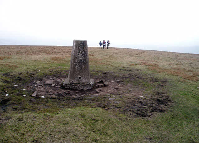 Trig point on Fan Fawr