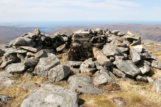 The summit of Beinn Leoid