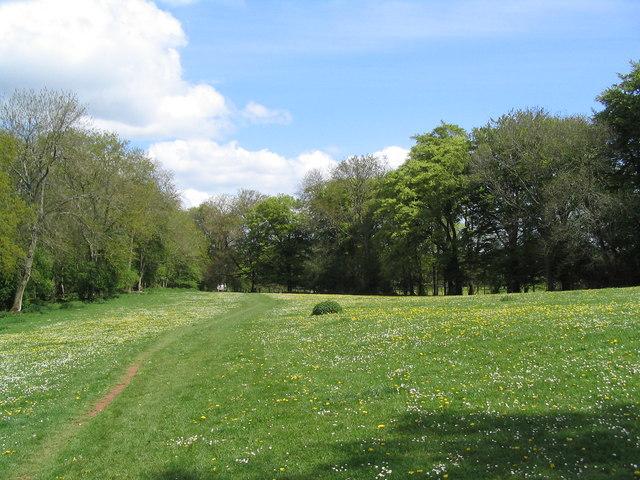 Offa's Dyke Footpath leading north from Tutshill