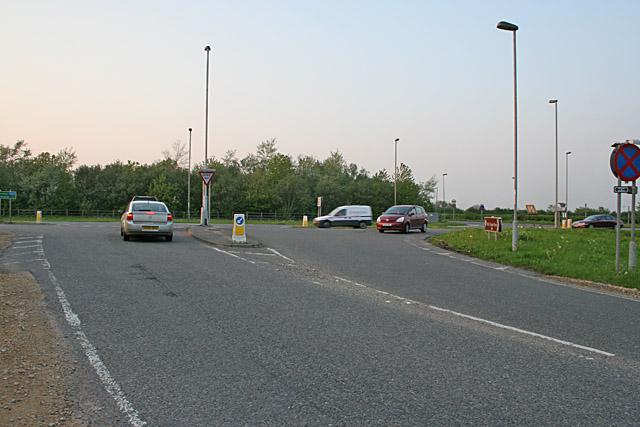 Road junction near Bingham