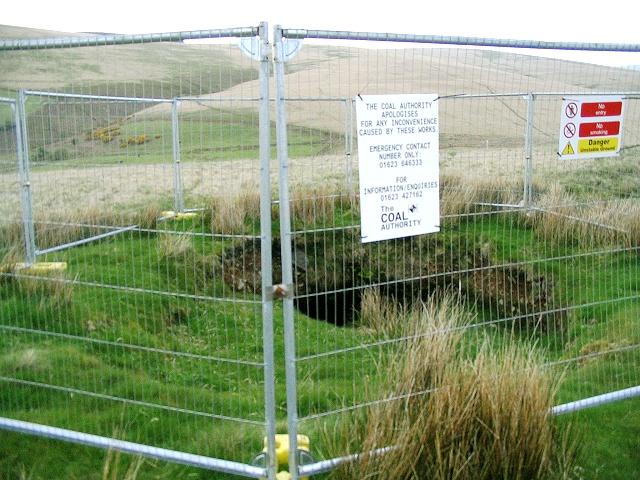 Unstable ground on Mynydd Garn-Fach