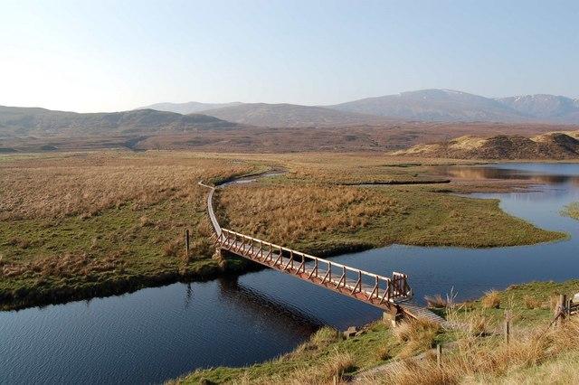 Footbridge over Loch Gowan
