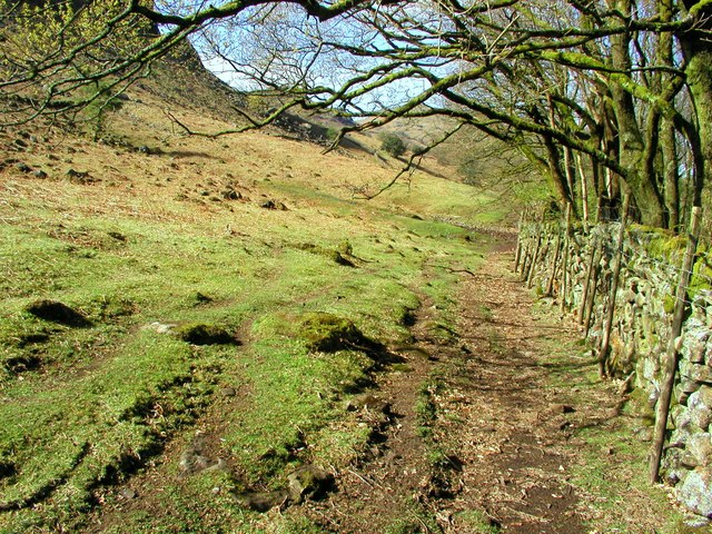 The footpath from the bottom of Hardknott Pass