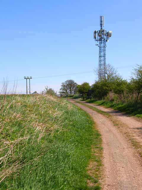 Telecommunications mast at High Haswell