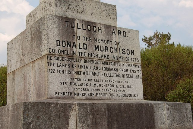 The text on the Murchison Memorial