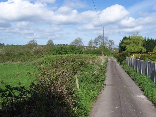 Access Lane from Buttington Tump