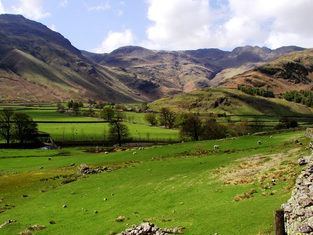 View from the Great Langdale footpath