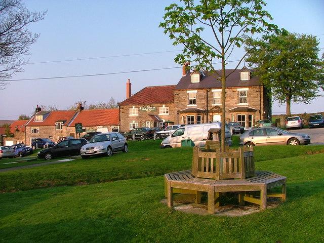 Millennium Seat and the Fox & Hounds Inn, Ainthorpe