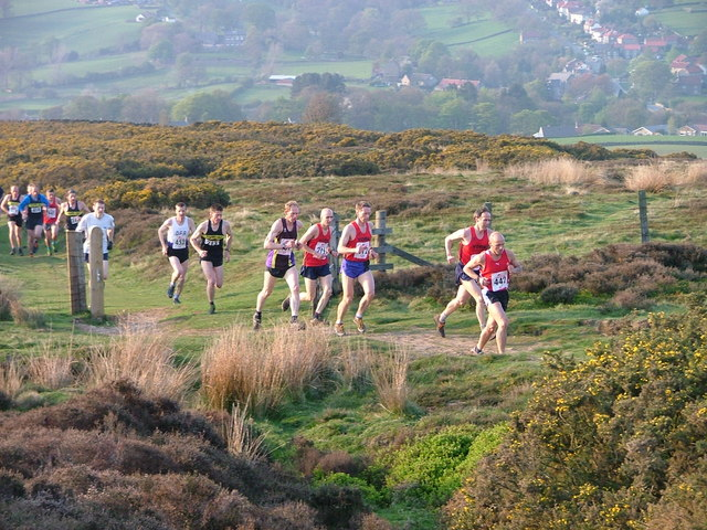 Runners in the Fox & Hounds Race