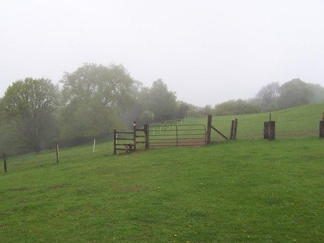 Offa's Dyke Path near Upper Beaulieu Farm