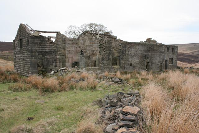 Ruined farmhouse, Raistrick Greave