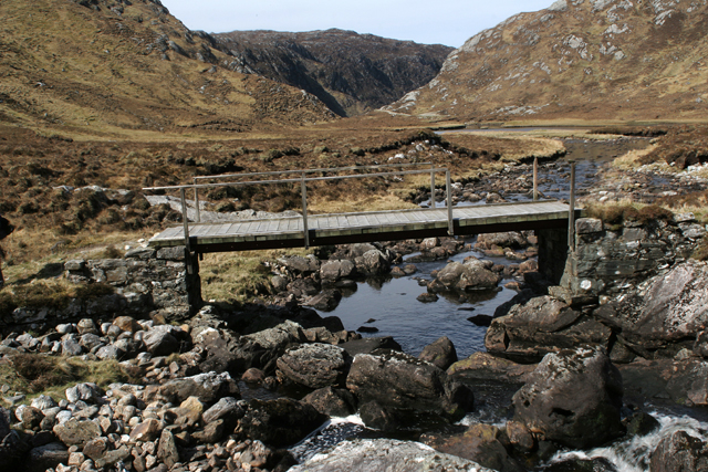 Footbridge in Upper Gleann Dubh