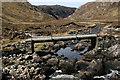 NC3032 : Footbridge in Upper Gleann Dubh by philip blackwood