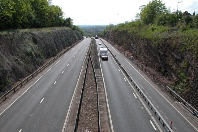 The A40 at Ross-on-Wye