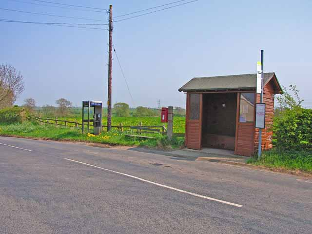 Bus stop at Little Stainton