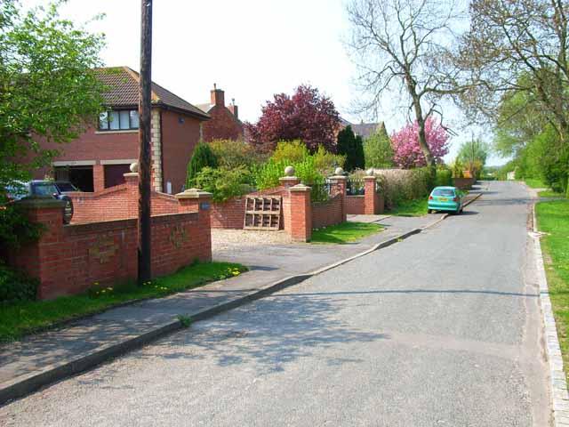 Village street, Little Stainton