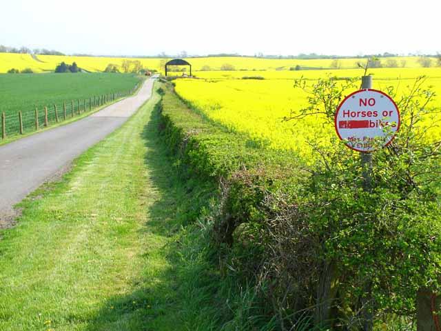 Private road near Shotton
