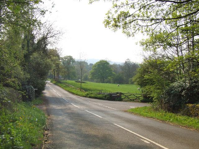 Country lanes near Lea.