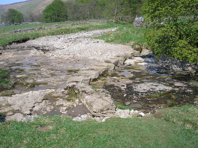 Redundant stepping stones - River Skirfare