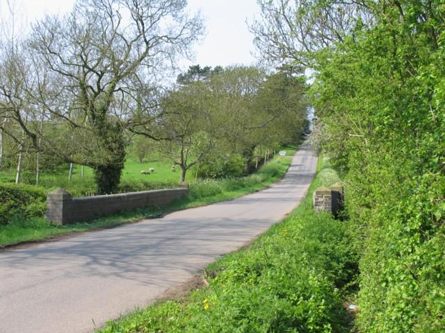Gumley Road looking northwards towards Smeeton Westerby