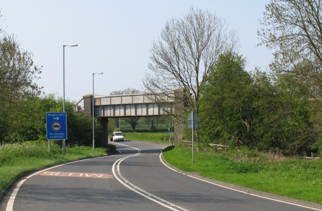 Railway bridge over A6