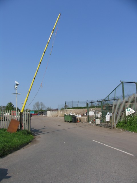 Entrance to rubbish tip