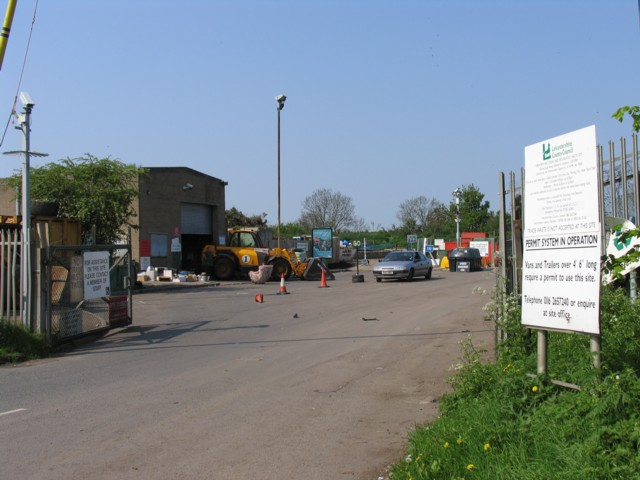 Refuse tip and recycling centre