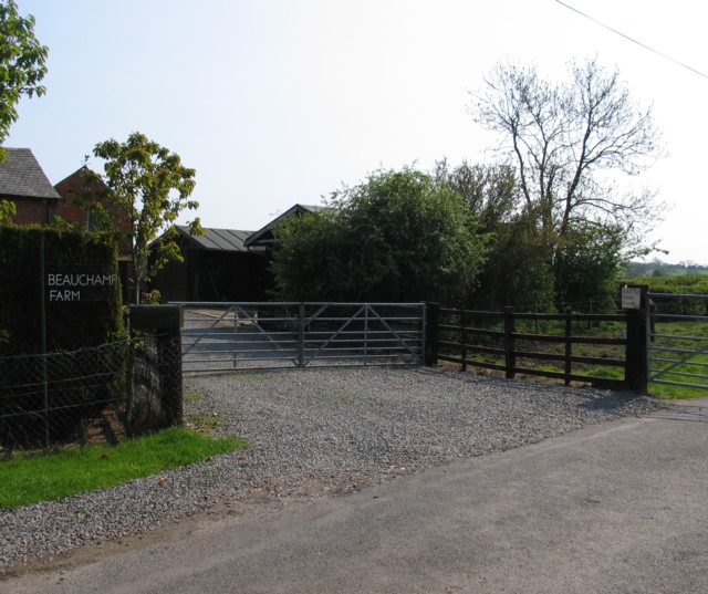 Beauchamp Farm entrance
