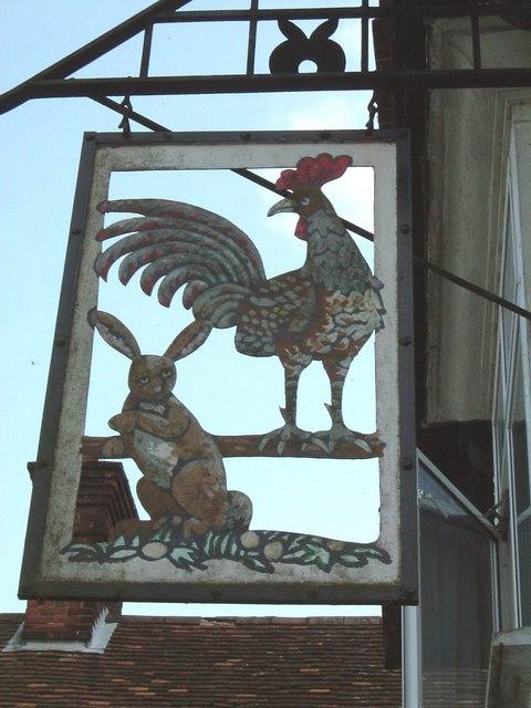 Cock & Rabbit Inn Sign