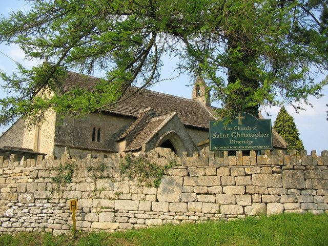 The church at Ditteridge