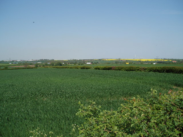 The distant  A1  from Egmanton, Nottinghamshire