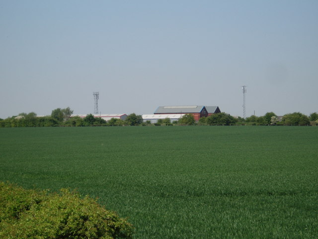 Across field to Tuxford railway engine sheds