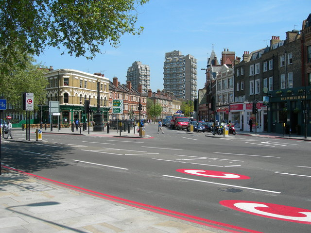 Kennington Lane meets Kennington Road