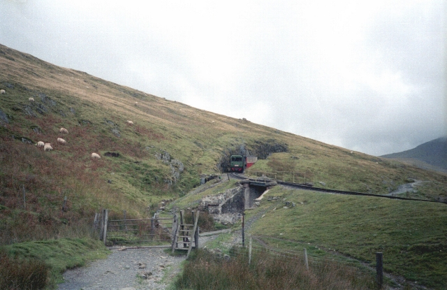 Crossing tracks, Snowdon