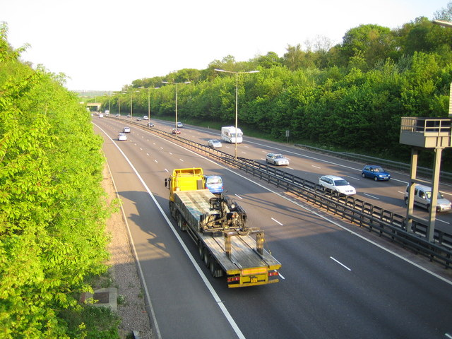 M25 Motorway from the Lye Lane overbridge near Junction 21a