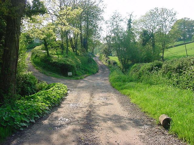 Longhope - Lane to Preece Moor Farm