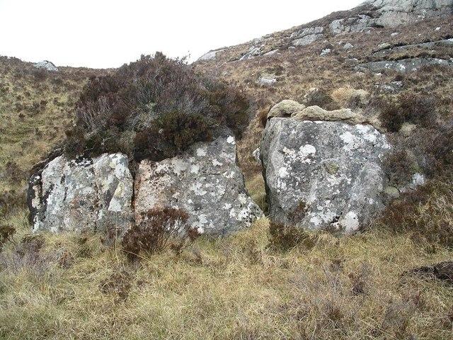 Split boulder, Carn na Beiste