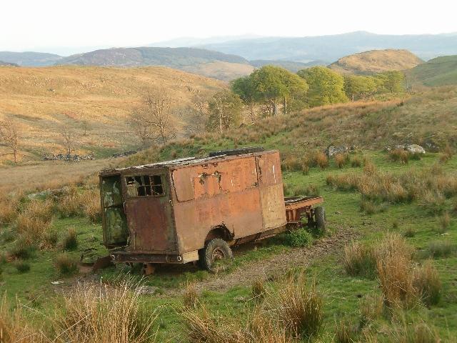 Derelict military vehicle