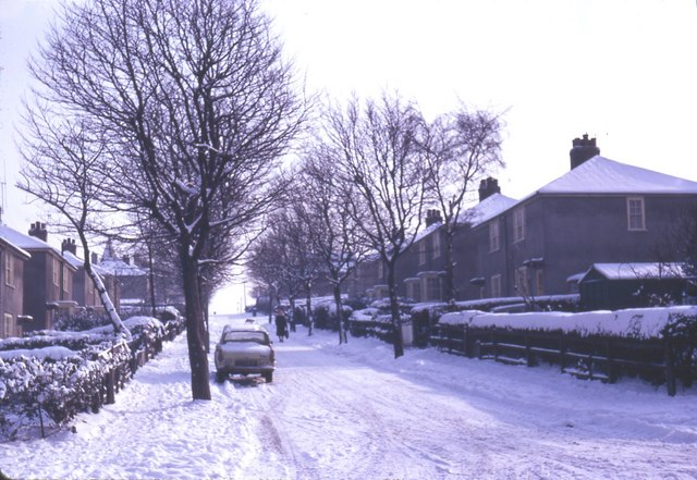 Cary Road, Manor Estate, Sheffield, 1969