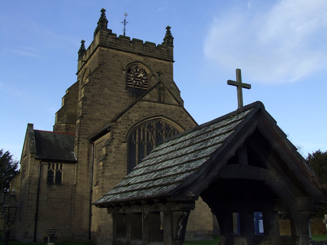 Rossett Church and lych gate